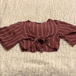 American Eagle Tie Front Top
